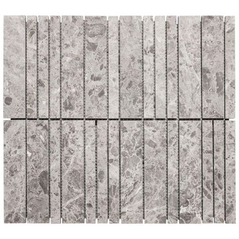 jeffrey court sticks 10 75 in x 12 in x10 mm beige marble mosaic wall tile 99714 on