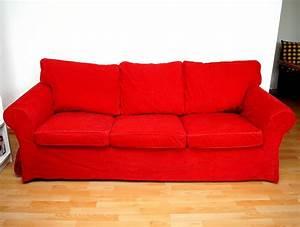 3 Er Sofa : ikea ektorp 3er sofa couch rot cord bezug neuwertig berlin hoher np ebay ~ Whattoseeinmadrid.com Haus und Dekorationen
