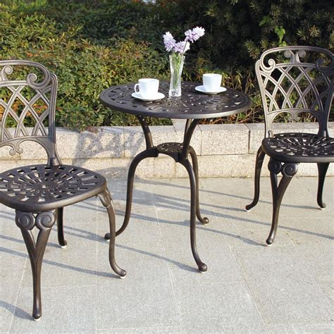 darlee patio furniture san diego darlee san marino 3 cast aluminum patio bistro set