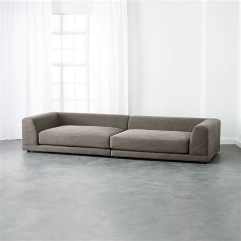 low settee low back sofas cb2