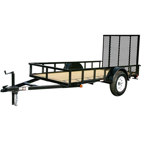 lowes utility flooring shop carry on trailer 5 x 12 mesh floor utility trailer with gate at lowes com