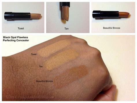 Black Opal Foundation Stick Swatches