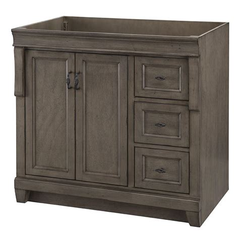 home decorators collection naples 36 in w bath vanity cabinet only in distressed grey with