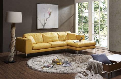 soleil sectional sofa  yellow premium leather  jm