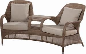 Chaise En Résine Tressée : fauteuil chaise double de jardin sussex en r sine tress e ~ Dallasstarsshop.com Idées de Décoration