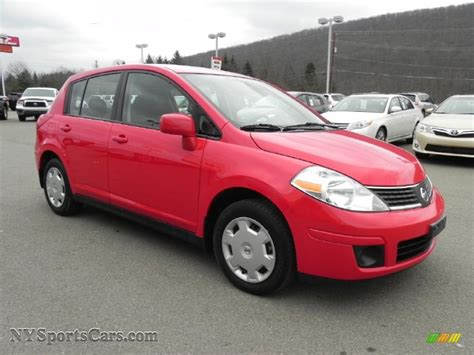 red nissan versa 2009 nissan versa 1 8 s hatchback in red alert 478154