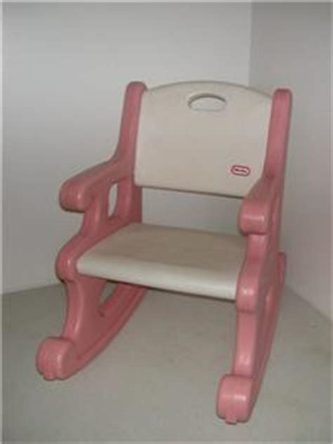 tikes white pink rocking chair