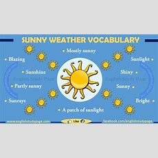 Expressing Sunny Weather In English  English Study Page