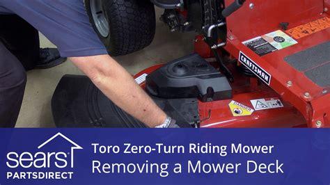 remove  mower deck   toro  turn riding