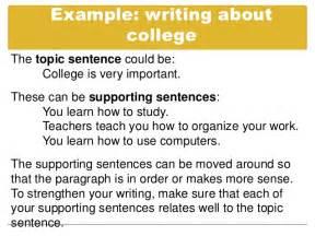 Good Topic Sentences Examples