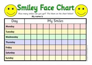Class behaviour management resources and printables for for Smiley face behavior chart template