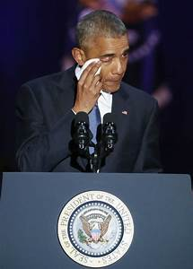 President Obama Cries As He Bids Emotional Farewell To ...
