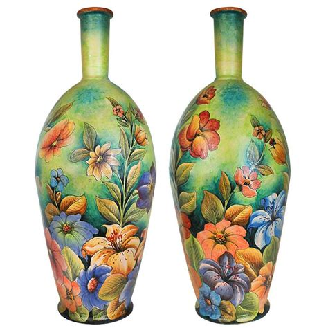 Tropical Vases by Santa Rosa Majolica Tropical Flowersxl Majolica Vase