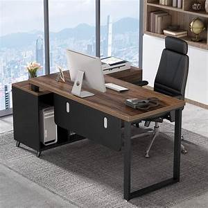 Tribesigns, 55, Inch, Large, Executive, Office, Desk, L