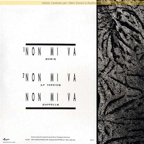 vasco non mi va discografia nazionale della canzone italiana