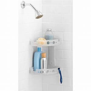 Zpc expandable handheld shower head caddy walmartcom for Bathroom caddies accessories