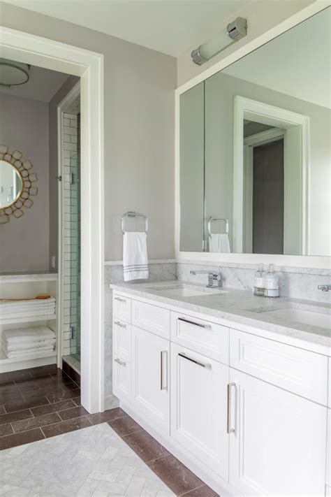 Modern Bathroom Color Palette by Modern Bathroom With Neutral Color Palette Creates Hgtv