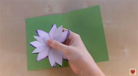 flower pop  card step  step tutorial