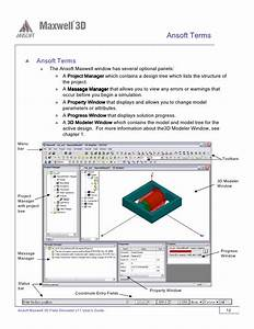 Ansoft Maxwell 3d V11 User Guide Pdf
