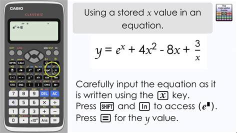 casio classwiz   stored      equation calculator fx   level maths