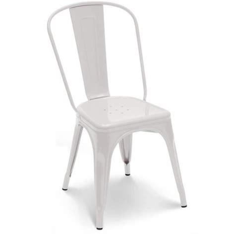 chaise empilable pas cher chaise en métal blanc empilable lot de 4 achat vente