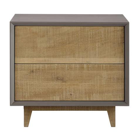 table de chevet avec tiroirs grise l 50 cm vermont