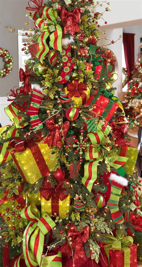 red  green christmas tree christmas pinterest