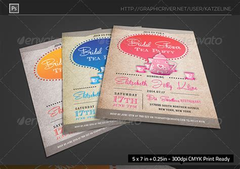 tea party invitation templates   ms word