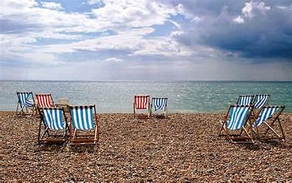 Summer Beach Chair Wallpapers Desktop Vibrant