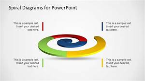 Colorful Spiral Diagrams For Powerpoint