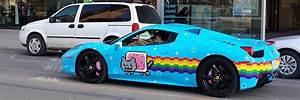 Uhh Dope » DeadMau5 Wraps his Ferrari in Nyan Cat theme