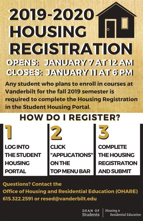 housing registration innervu vanderbilt university