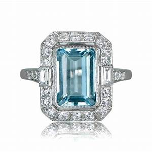 aquamarine engagement ring estate diamond jewelry With aquamarine diamond wedding ring