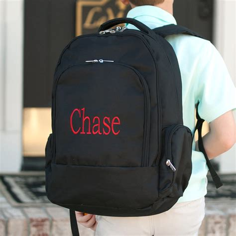 personalized backpacks  adults monogram backpacks  boys