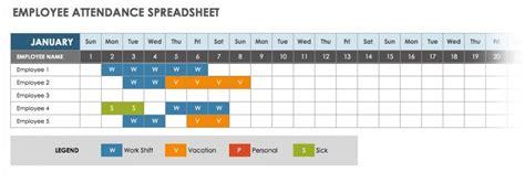 attendance spreadsheets  templates smartsheet