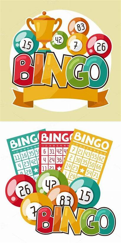 Bingo Clipart Raffle Lottery Retro Flyer Templates