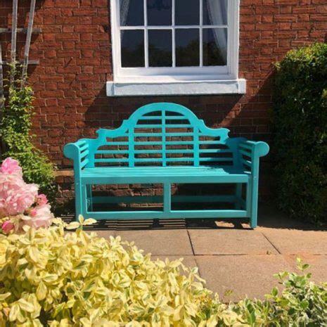 lutyens painted cm  seater teak garden bench