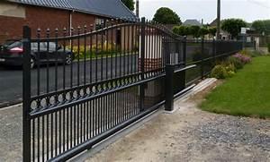 Portail Coulissant Sur Rail : portail alu coulissant sur rail motorisable ouverture ~ Edinachiropracticcenter.com Idées de Décoration
