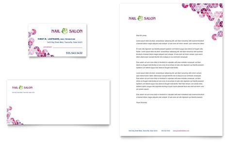 nail salon business card letterhead template word