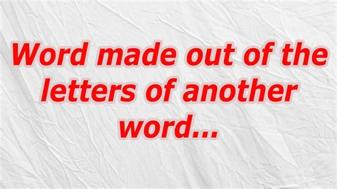 make words out of letters word made out of the letters of another word codycross