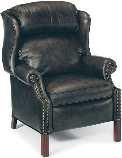 chippendale mahogany reclining wing chair by bradington