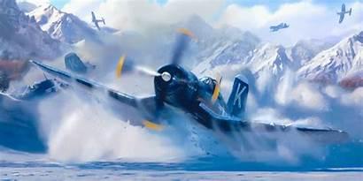 Corsair F4u Ww2 War Aviation Devotion Painting