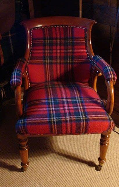 tartan chair chairs