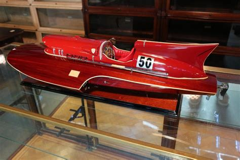 It's the perfect gift for the ferrari enthusiast. Model Boat Ferrari Hydroplane For Sale at 1stdibs