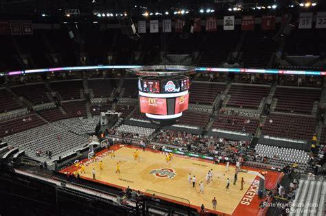 schottenstein center section  ohio state basketball rateyourseatscom