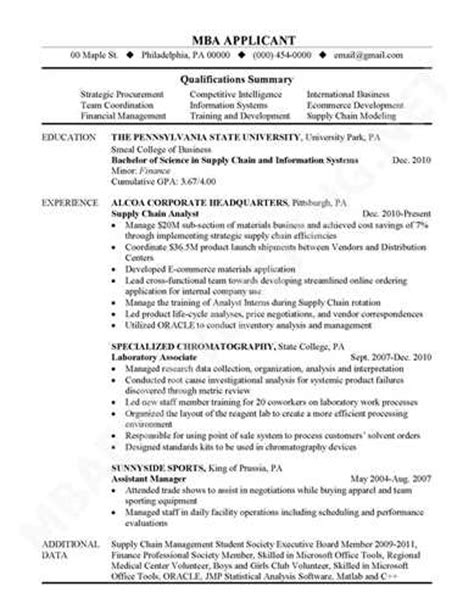 What Information Is Ordinarily Included On A Resume by Mba Application Resume Explanation Exles And Templates