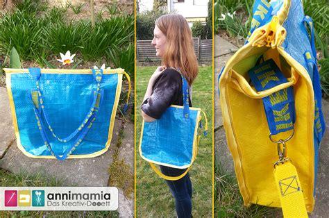Ikea Tasche Pimpen by Upcycling Blau Gelbe Schweden T 252 Te Wird Zum Schicken