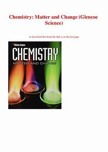 Glencoe Chemistry Matter And Change Teacher Edition Pdf