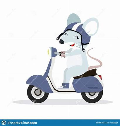 Motorcycle Mouse Vector Rat