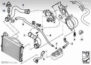 Cooling System Water Hoses Bmw 5 U0026 39  E39  540i  M62   U2014 Bmw Parts Catalog